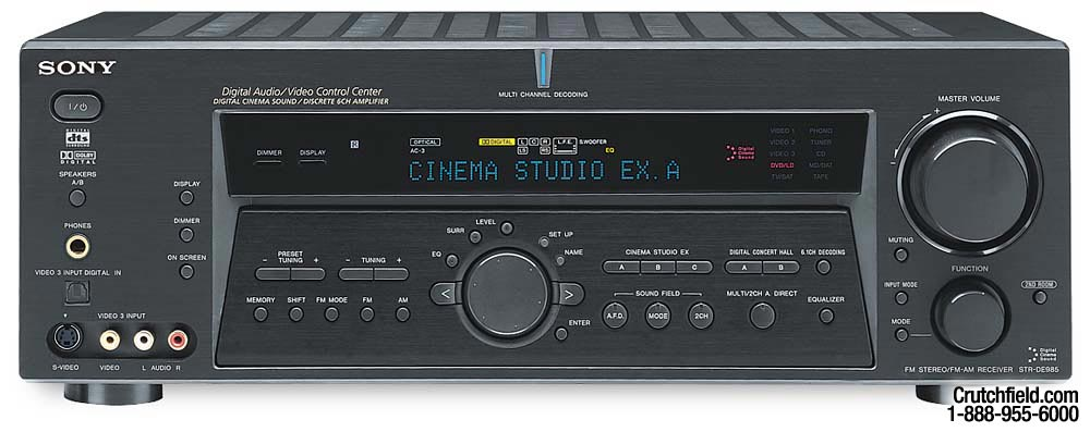 sony str de985 black a v receiver with dolby digital ex dts and rh crutchfield com sony str de685 manual sony str de925 manual