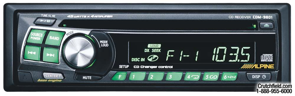 x500CDM9801 f alpine cdm 9801 cd receiver with cd changer controls at alpine cdm 9801 wiring diagram at gsmportal.co