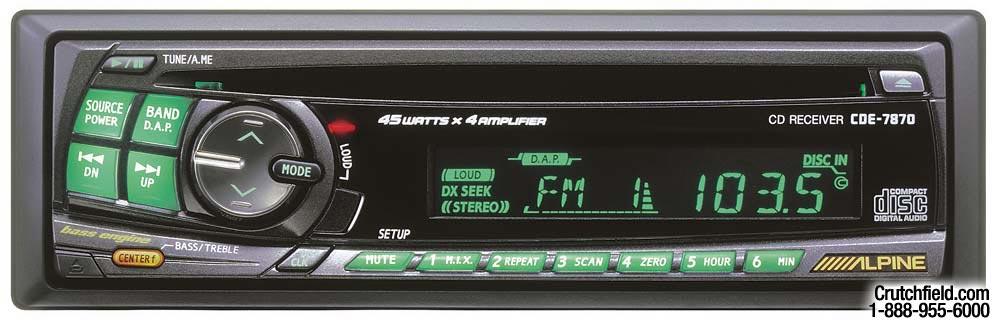 alpine cde 7870 cd receiver at crutchfield com rh crutchfield com Alpine CDE 7872 Manual Alpine CDE 7870 Back