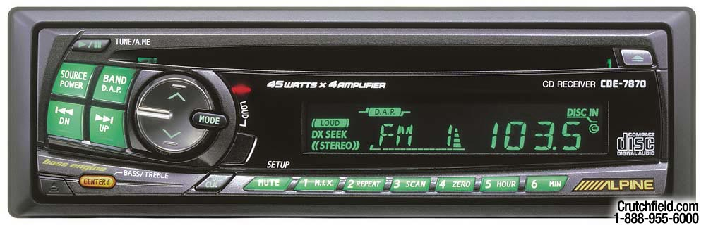 x500cde7870 alpine cde 7870 cd receiver at crutchfield com alpine cde-7870 wiring diagram at webbmarketing.co