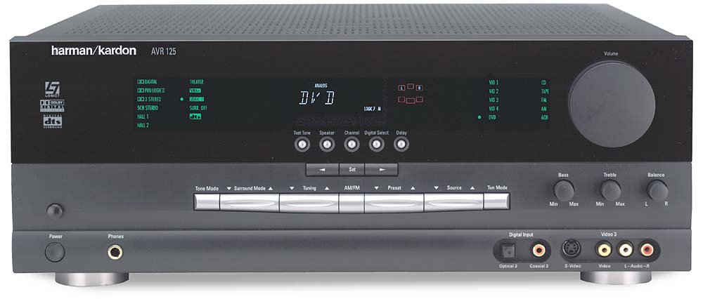 harman kardon avr 125 home theater receiver with dolby digital dts rh crutchfield com Harman Kardon AVR 7200 Review Harman Kardon AVR 320 Manual