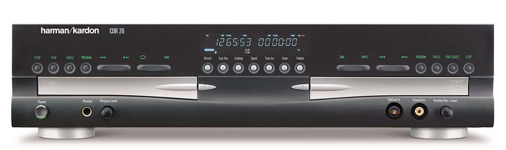 harman kardon cdr25 26 dual tray cd r cd rw recorder player repair manual