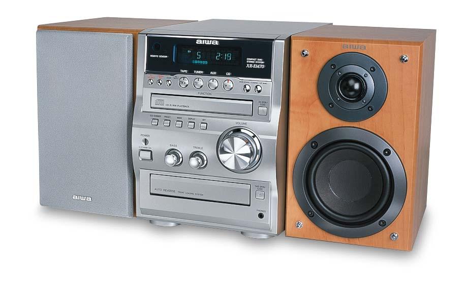 Aiwa XR EM70 Micro Shelf System At Crutchfield