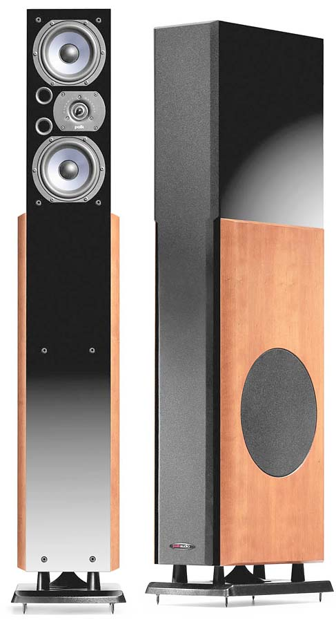 Polk Audio Lsi25 Cherry Finish Powered Floor Standing