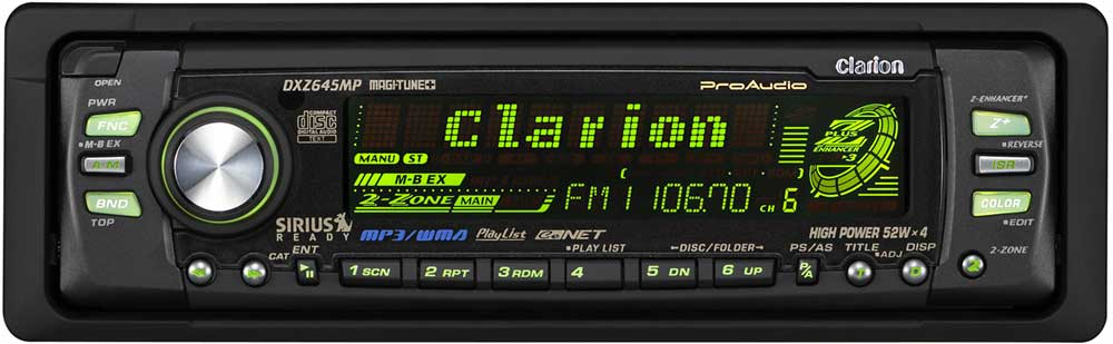 clarion proaudio dxz645mp cd mp3 wma receiver with 80 color variable rh crutchfield com  clarion dxz645mp manual