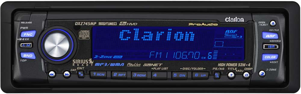 clarion proaudio dxz745mp cd mp3 wma receiver with. Black Bedroom Furniture Sets. Home Design Ideas