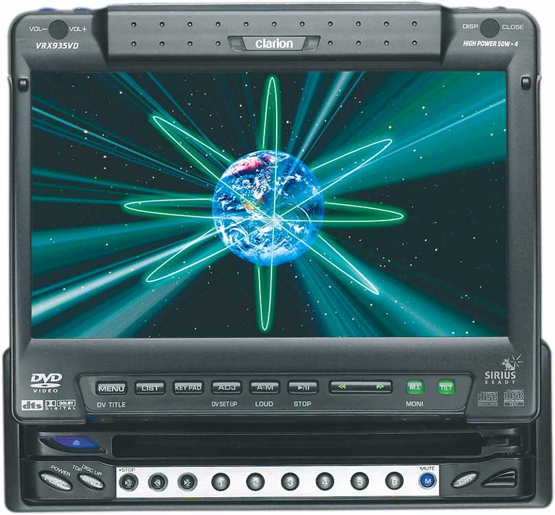 x020VRX935 f_LD_3 clarion proaudio vrx935vd dvd cd mp3 receiver with 7\