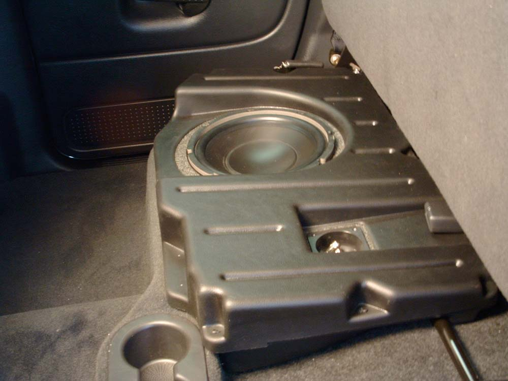 Q Customs Factory Fit Subwoofer Enclosures Black Fits