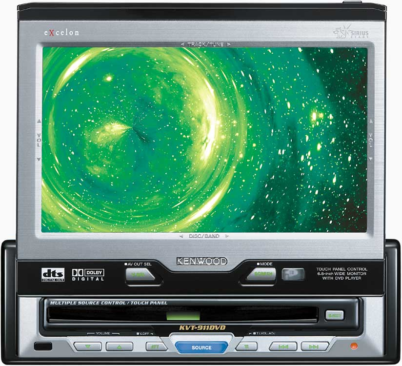 kenwood excelon kvt 911dvd cd dvd receiver tv tuner 6 5\
