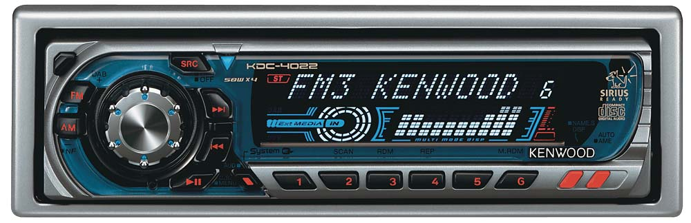 Kenwood KDC-4022 CD Receiver with CD Changer Controls at