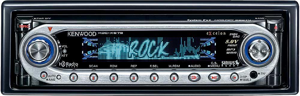 Kenwood Excelon KDC-X679 CD/MP3/WMA receiver at Crutchfield.com
