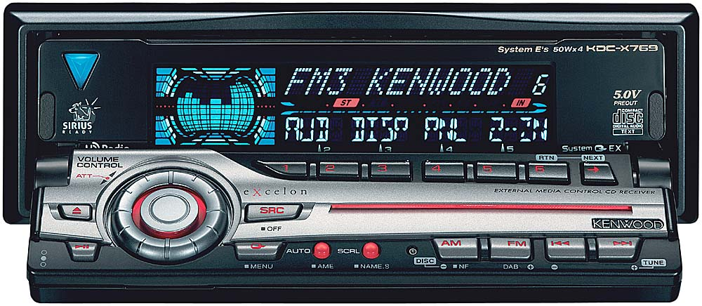Kenwood Excelon KDCX769 CD Receiver with CD Changer Controls at – Kenwood Kdc-mp425 Wiring Diagram