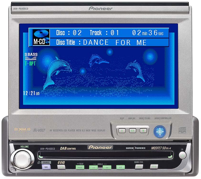 x130AVHP64C_dmt pioneer avh p6400cd cd receiver 6 5\