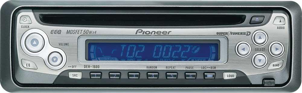 pioneer deh 1600 cd receiver at crutchfield com