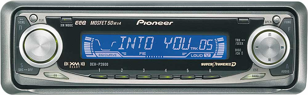 x130DEHP260 f pioneer deh p2600 cd receiver with cd changer controls at pioneer deh p2600 wiring diagram at gsmportal.co