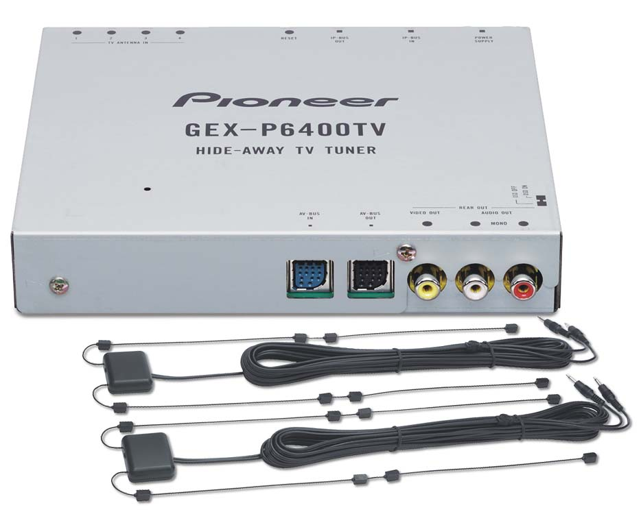 x130P6400TV f_dmt pioneer gex p6400tv tv tuner & 4 channel diversity antenna at pioneer avh-p6400cd wiring harness at virtualis.co