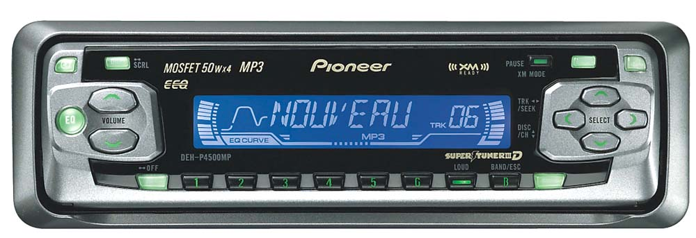 x130dehp450 f pioneer deh p4500mp cd mp3 receiver with cd changer controls at pioneer deh p3700mp wiring diagram at alyssarenee.co