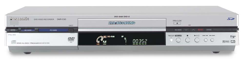 panasonic dmr e60 dvd recorder with progressive scan playback at rh crutchfield com Panasonic DMR- EZ48V Panasonic DMR Recorders