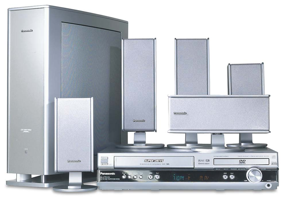 panasonic sc ht810v dvd vcr home theater system at. Black Bedroom Furniture Sets. Home Design Ideas