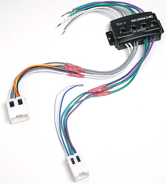 x142c4nn03 f scosche cnn03 wiring interface allows you to connect a new car 4 Channel Amp Wiring Diagram at readyjetset.co