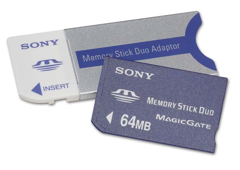 Sony MagicGate Memory Stick Duo (64MB) Digital storage media at ...