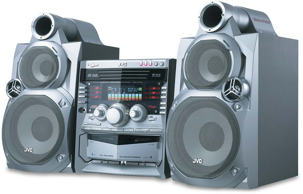 JVC MX-GT88 3-CD GigaTube system at Crutchfield.com