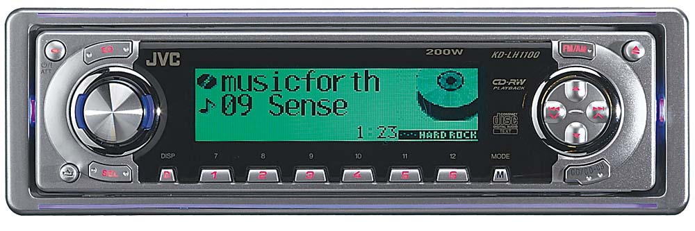 JVC KD-LH1100 CD Receiver with CD Changer Controls at Crutchfield.com