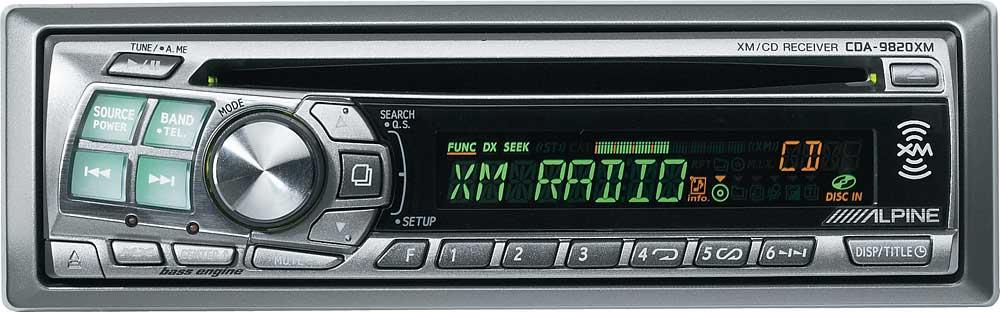 alpine cda 9820xm cd receiver with built in xm radio tuner at rh crutchfield com