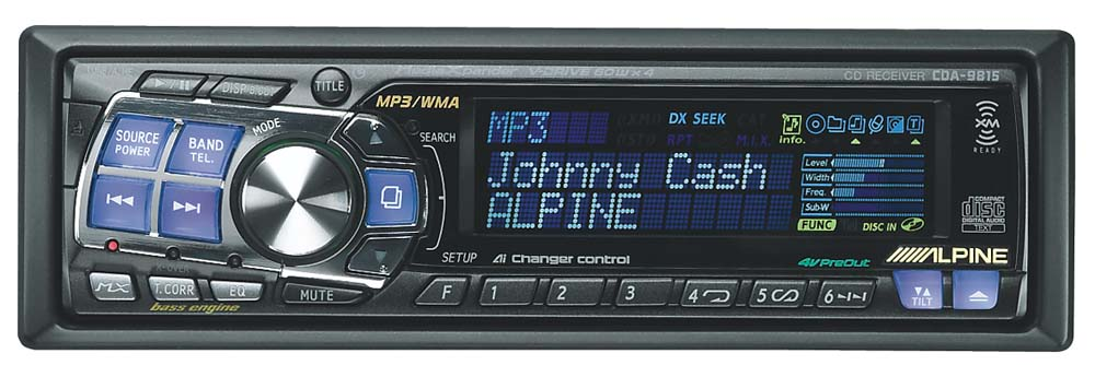 alpine cda 9815 cd mp3 wma receiver with cd changer. Black Bedroom Furniture Sets. Home Design Ideas