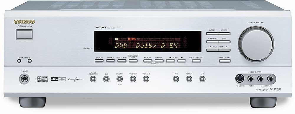 Onkyo TX-SR501 (Silver) Home theater receiver with Dolby