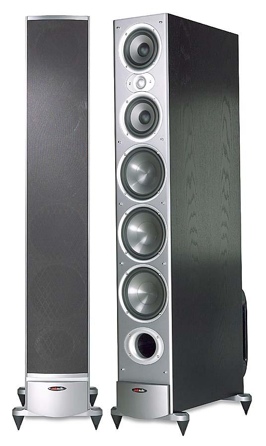 Polk Audio Rti12 Black Oak Finish Tower Speakers At