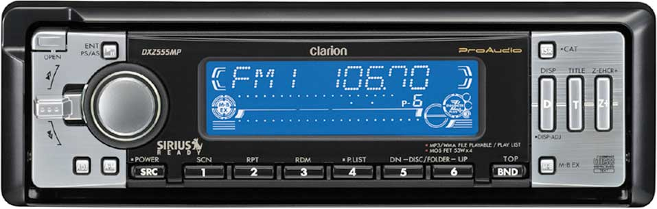 x020DXZ555 f_mt clarion proaudio dxz555mp cd receiver with mp3 wma playback at clarion dxz555mp wiring harness at gsmportal.co