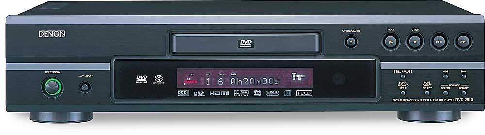Denon DVD-2910 (Black) Universal DVD/CD/SACD/DVD-Audio player with HDMI™  and DVI output at Crutchfield.com