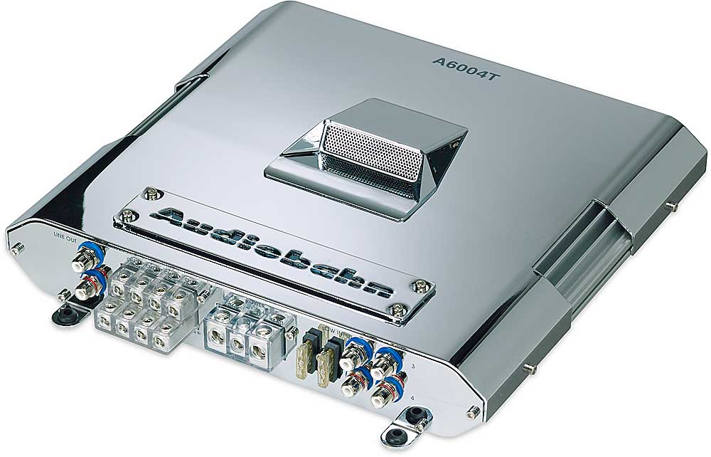 Audiobahn A6004T 4-channel car amplifier 75 watts RMS x 4 at ...