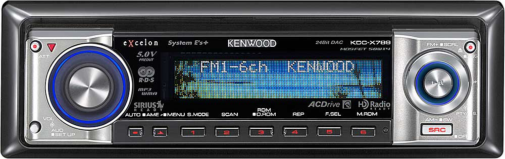 x113KDCX789 f kenwood excelon kdc x789 cd receiver with mp3 wma aac playback at kenwood kdc-x789 wiring diagram at creativeand.co