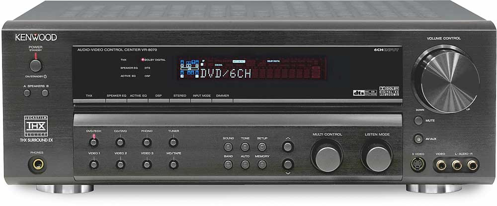 Kenwood vr-8070 home theater receiver with thx select, dolby.