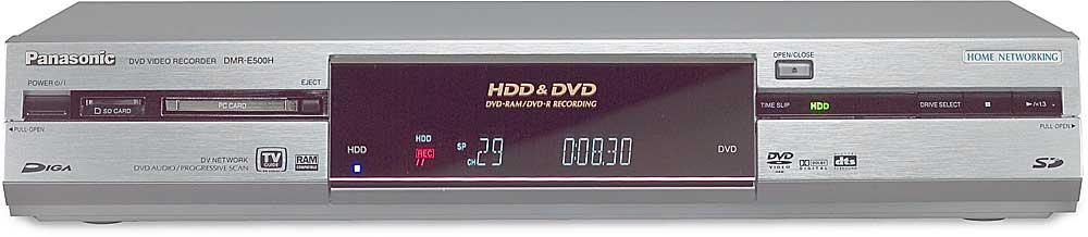 Panasonic DMR-E500HS DVD Recorder Mac