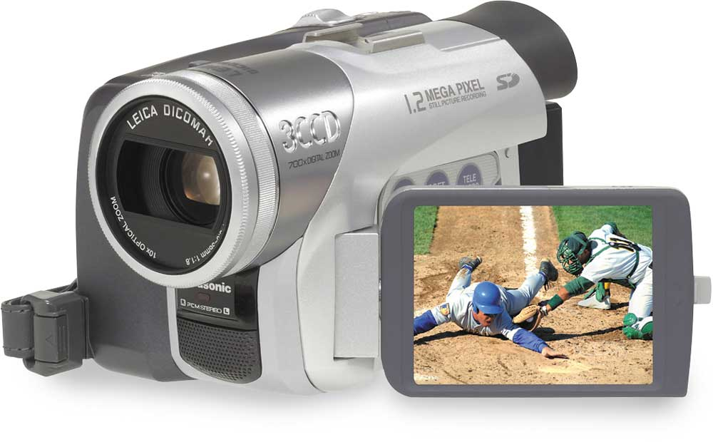 Panasonic pv-gs120 3-ccd mini dv digital camcorder at crutchfield. Com.