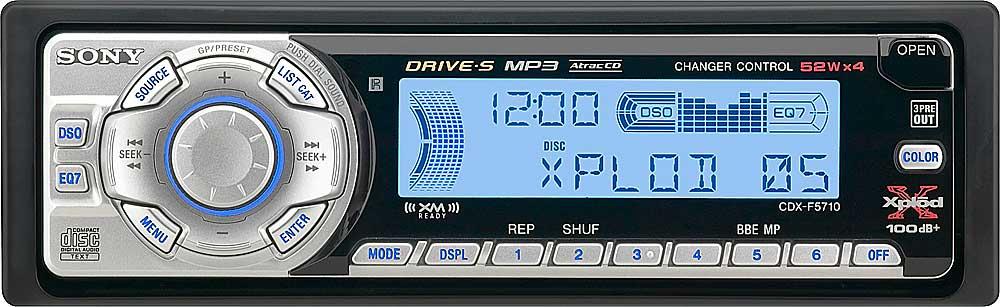 sony cdx f5710 cd receiver with mp3 atrac3plus playback at rh crutchfield com Sony Cdx Gt260mp Sony Cdx Gt540ui