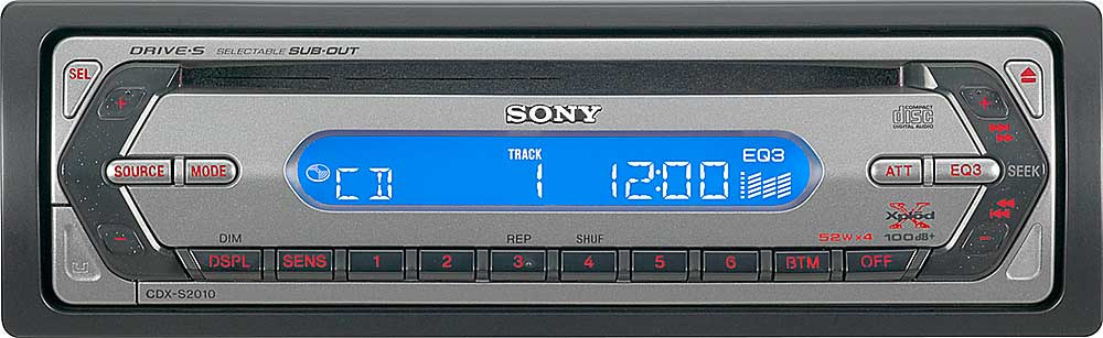 Sony Cdx S2010 Wiring Diagram: Sony CDX-S2010 CD receiver at Crutchfield.com,Design