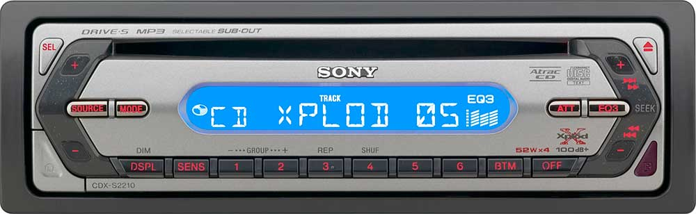 Sony CDX-S2210 CD receiver with MP3 / ATRAC3plus playback at ...