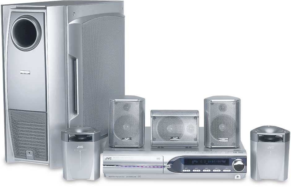 JVC TH-M505 5-disc DVD home theater system at Crutchfield.com