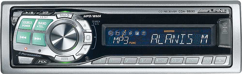 alpine cda 9830 cd mp3 wma receiver with cd changer controls at rh crutchfield com Alpine CDA 9830 Hewlett-Packard 9830
