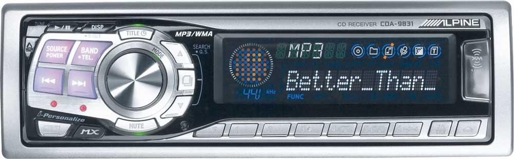 Alpine CDA 9831 CD MP3 WMA Receiver With Changer Controls At Crutchfield
