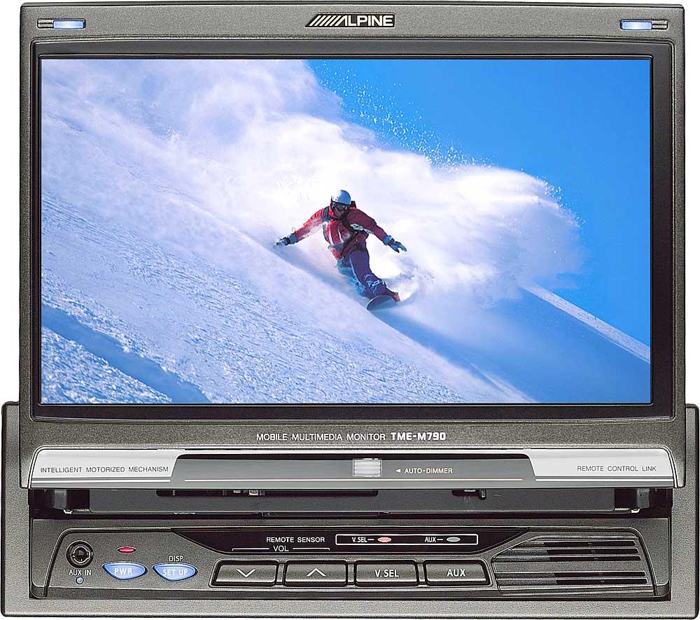 Alpine Tme M790 7 Widescreen In Dash Monitor At Inceiling Speaker Crutchfield On Surround Sound Subwoofer Wiring