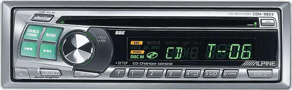 Scanning programs, controlling cd changer (optional), music sensor.
