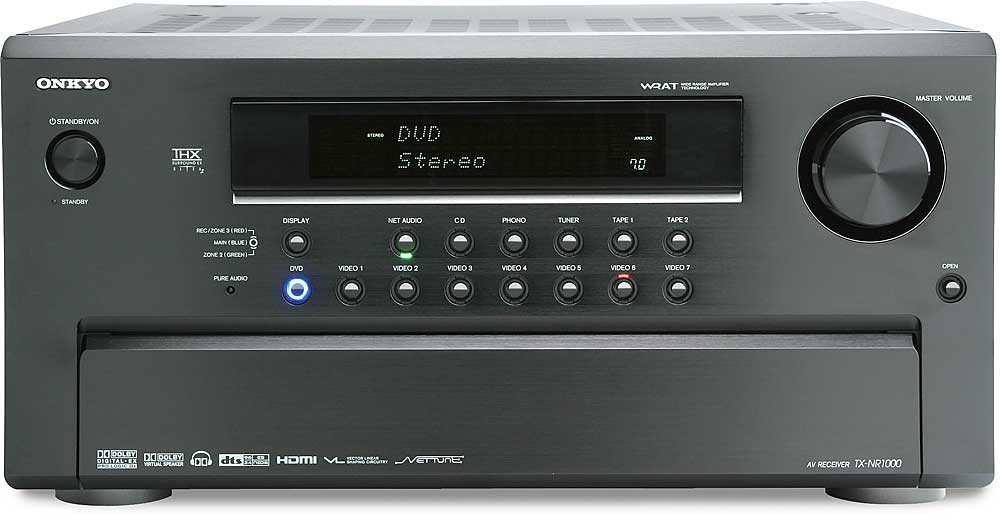 onkyo tx nr1000 home theater receiver with thx ultra2 hdmi switching and home computer