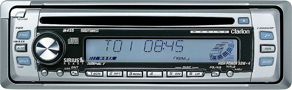 Clarion M455 Marine Cd Receiver With Sirius Satellite