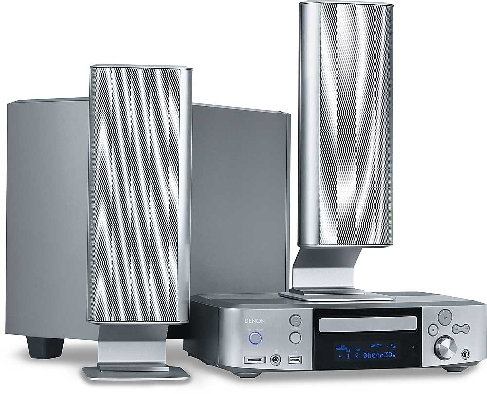 Denon S-301 DVD entertainment system with near-high-definition DVD playback  & iPod® compatibility at Crutchfield.com