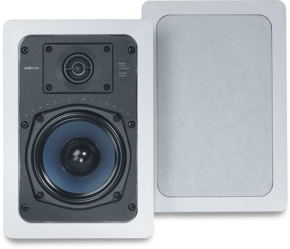 polk audio rc55i in wall speakers at. Black Bedroom Furniture Sets. Home Design Ideas
